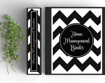 64 Page Home Management Binder; EDITABLE and PRINTABLE at Home!