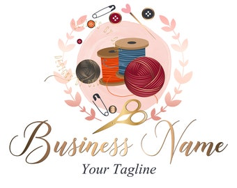 Custom logo design, sew yarns logo, sew knitting logo, yarns logo, crochet sewing or knitting logo