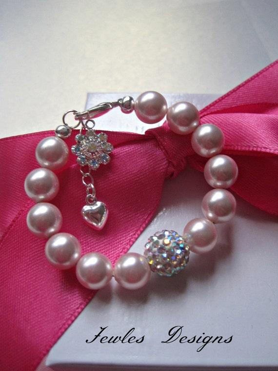 Items similar to Infant Jewelry SWAROVSKI Baby bracelet ...   570 x 760 jpeg 67kB