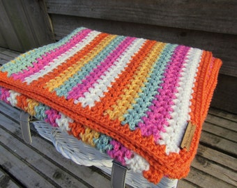 Crochet Baby blanket, crochet blanket, baby blanket, textured blanket, nursery blanket, ready to ship