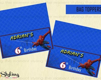 Spiderman BAG TOPPERS