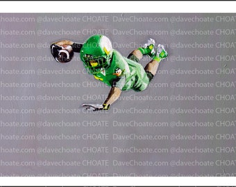 Oregon Ducks Football. Rose Bowl vs Florida State Art Photo Print