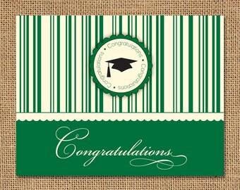 Congratulations Stripes Grad Card