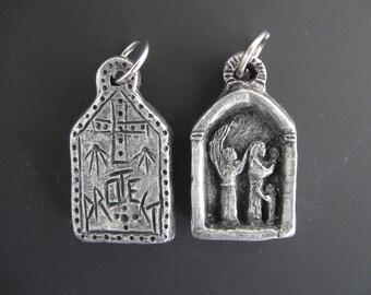 Guardian Angel of Grandfathers: Handmade Medal, Pendant, Charm, Key Chain