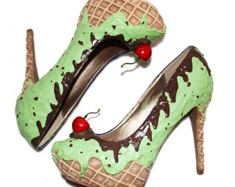 Mint Choc Chip Ice Cream heels