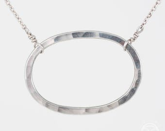 Oval Necklace Adjustable Chain