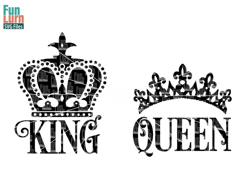 King svg queen svg king crown queen crown svg design svg zoom thecheapjerseys Choice Image