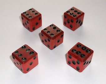 Wooden Dice - Imperfect Red 5-Pack