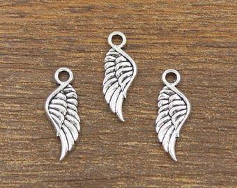 30pcs Wing Charm Angel Wing Charm, Angel's Wings Charm, Feather Wing Charm, Feather Charm, Casting charm