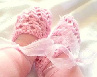 INSTANT Download BABY BootiesKnitting PATTERN Baby Ballerina Shoes