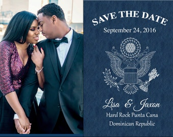 Custom 5x7 Save the Date Passport Postcards