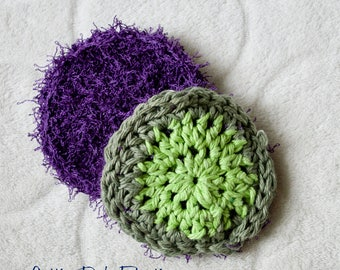 Reusable Two-sided Dish Scrubber and Cloth