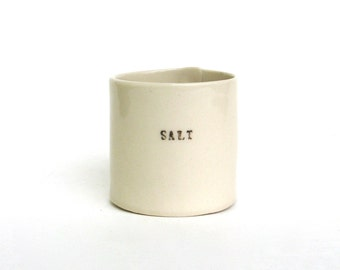 salt   ...   hand built porcelain vessel