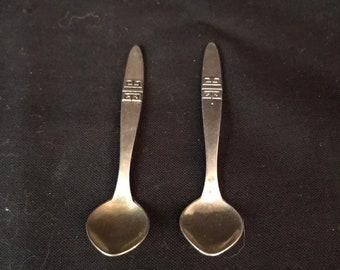 Pair of Russian 916 Individual Salt Spoons  (MS-035)
