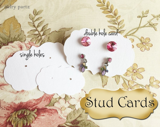 STUD•EARRING Cards•Jewelry Cards•Earring Display•Post Earring Card•Stud Card•stud card 11 / 13