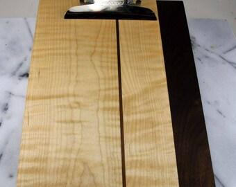Clip Board / Tiger Maple and Walnut