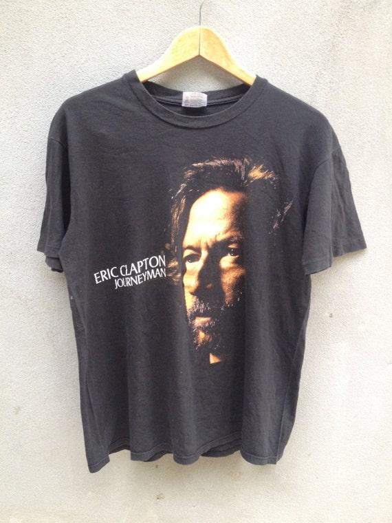 vintage 90's ERIC CLAPTON Journeyman 1990 tour black T shirt a9nXHszHZK