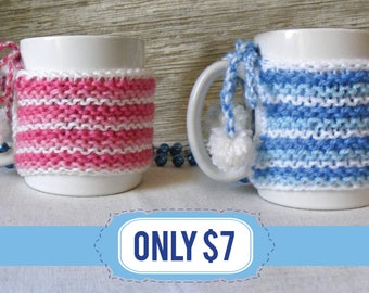 Coffee Mug Cozy, Coffee Cozy, Coffee cup warmer made from durable yarn, Knit Coffee Cozy.