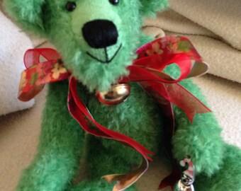 Mistletoe. A Christmas bear.