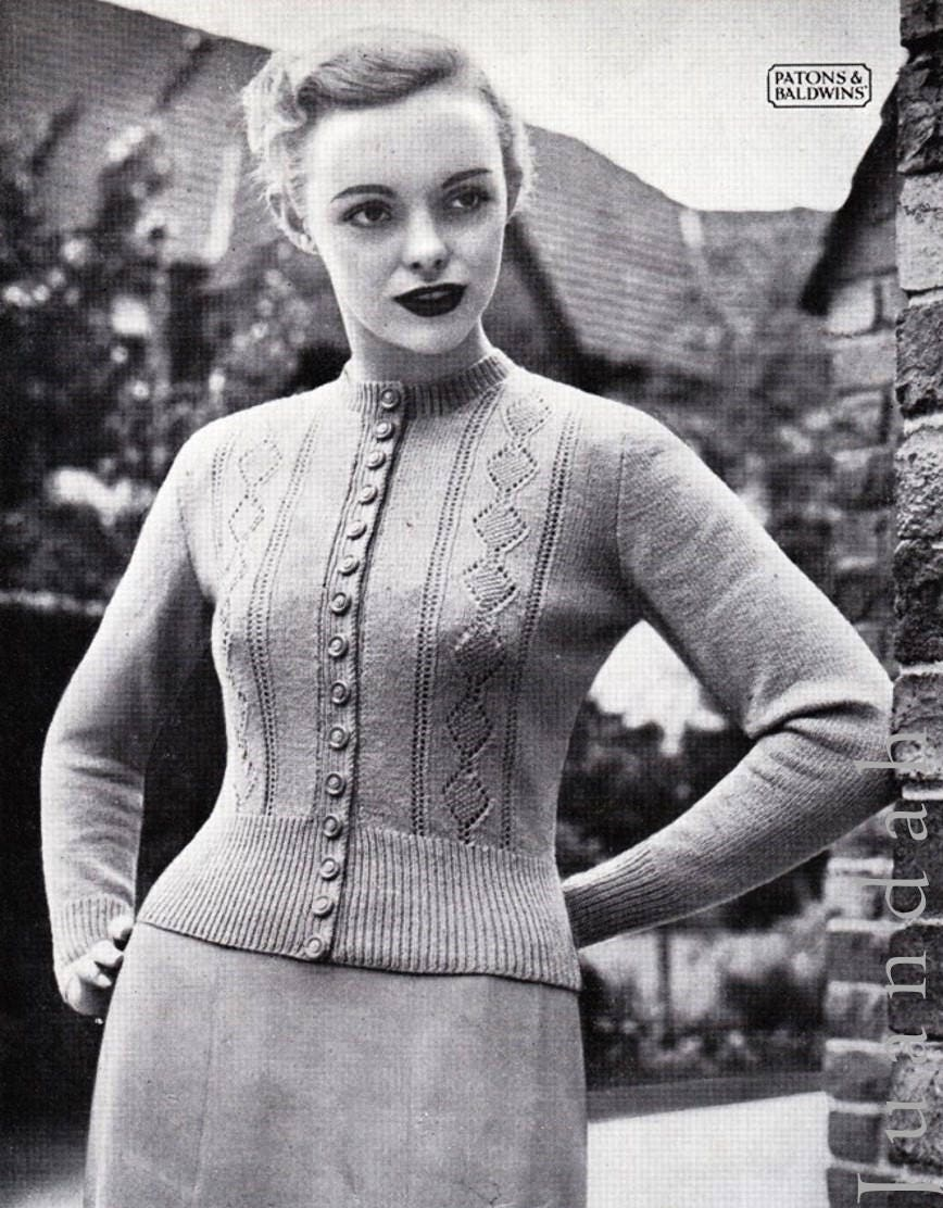 Vintage women\'s tops, 1940s knitting patterns, 8 PDF patterns ...