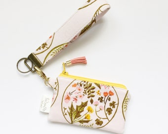 Keychain Pouch // Dandelion Circles by Heather Ross