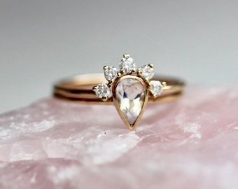 Pear engagement ring Etsy