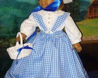 Avant-guerre robe avec jupon, culotte s'adapte à American Girl poupées Marie Grace ou Cecile