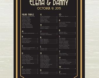 Seating Chart, Great Gatsby, GATSBY, DIGITAL or PRINTED