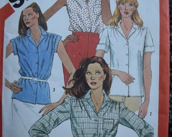 Vintage Simplicity 6358 Misses Shirts in size 16 (Uncut)