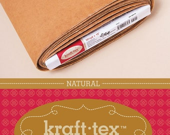 Kraft-Tex Yardage Paper Fabric by C&T Publishing in Natural, Chocolate, Stone, Black and White Colors Alternative Leather