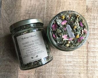 Nourish and Bloom Pregnancy Tea Organic herbal Pregnancy Tea
