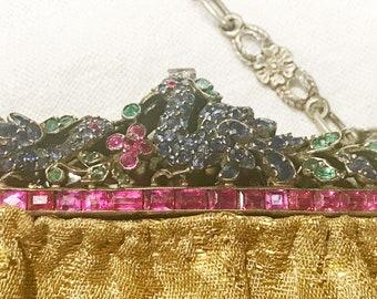 Gemstone Frame Purse Sapphires Emeralds Rubies Jeweled