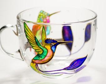 Coffee Mug Hummingbird, Grandma Gift, Wedding Favors for Bridesmaid, Home Decor