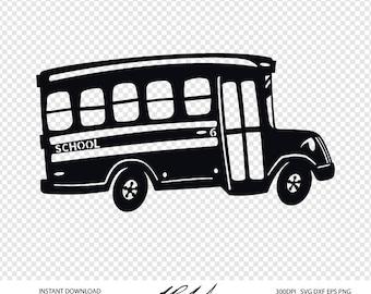 School Bus Cut File - Digital Files - School Bus SVG - School Bus DXF - School Bus EPS - Vector School Bus - School Bus png - School Clipart