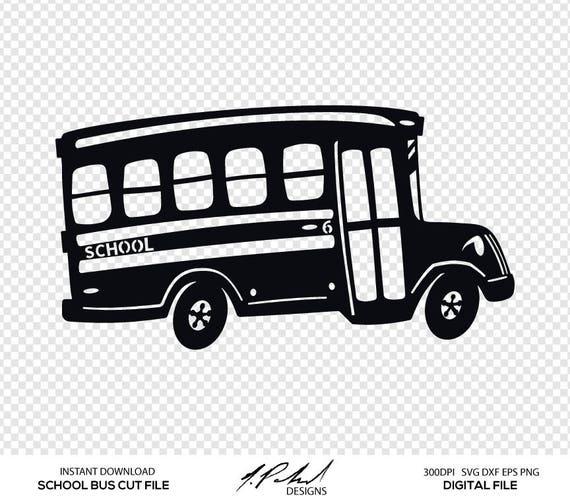 School Bus Cut File Digital Files School Bus SVG School