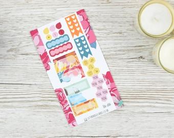 Blumen-persönliche Planer-Kit; Wöchentliche Kit; TN-Kit; Sticker; Kugel-Journal; Filofax; Mini Kit ist; Valentines Kit; Wöchentliche Sommer-Kit