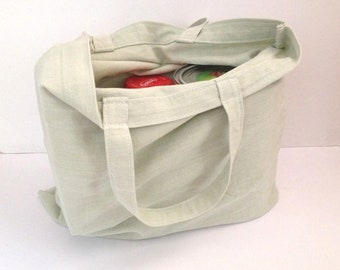 reusable grocery bag, casual market tote bag, everyday bag, weekend bag, cotton canvas handbag,