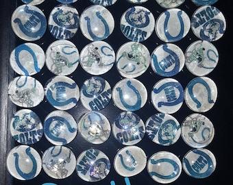 Motivation glass magnets - Colts (set of 5)