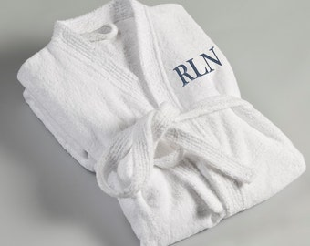 Men's Monogrammed Bath Robe - Personalized Men's Robe - Monogrammed Bath Robe - Gifts for Him - Groomsmen Gifts - Gifts for Dad - RO017