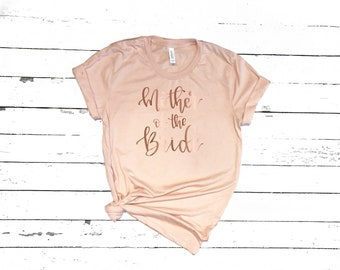 Mother of the Bride Graphic Tees Short Sleeve | Customize the Shirt Color, and Vinyl Color | Custom T-Shirt for Wedding Party | Rose Gold