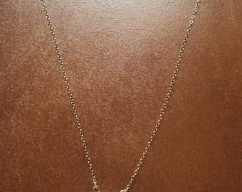 14K Classic Gold Druzy Necklace in White - bridal, mother's day, wedding, birthday