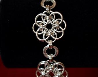 Sterling Silver Bracelet, Flower Bracelet, Hand Made, Made in USA, Silver Bracelet, Bracelet