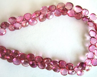 Gem  Natural Mystic Pink Topaz Faceted Tear Pear Heart Drops