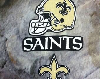 New Orleans Saints iron on applique set