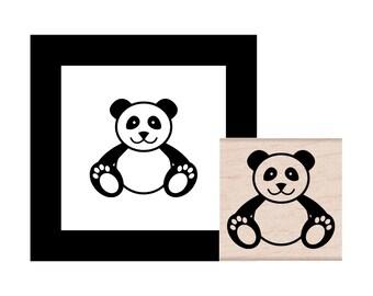 Panda Bear Rubber Stamp