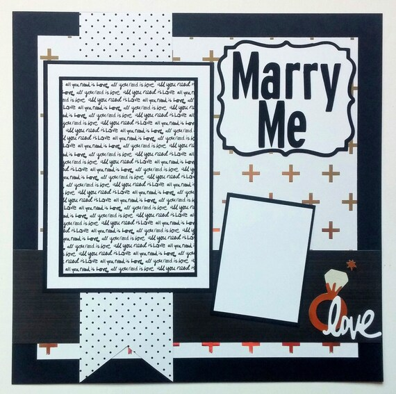 Engagement Scrapbook Page Wedding Scrapbook Scrapbook Page