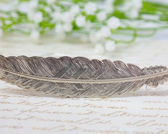 Feather Necklace, Feather Charm, Silver Necklace, Silver Wild Feather Charm Necklace, Woodland Jewelry, Silver Chain, Mother Gift FOR HER
