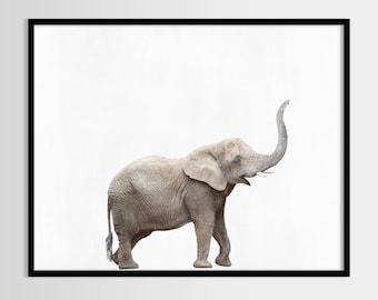 Elephant print, African Safari, Nursery decor, Animal, Kids room, Modern Wall, Digital art, Printable, Instant Download 10x8, 14x11, 20x16