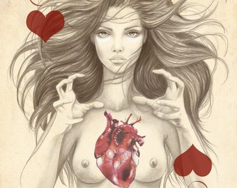 Illustration: Ace of Hearts by Marisa Jiménez LIMITED EDITION