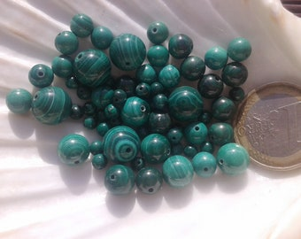 Lot of MALACHITE AA beads, natural stone bead, round bead, semi precious stone, 10mm 8mm 7mm 6mm and 4mm